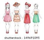 fashion girls illustration.... | Shutterstock . vector #149691095