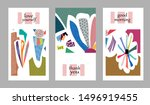 set of creative universal cards.... | Shutterstock .eps vector #1496919455