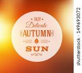 Autumn Sun Abstract Vector...