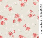 floral seamless vintage pattern.... | Shutterstock .eps vector #149693552