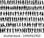 black children silhouettes.... | Shutterstock .eps vector #1496961902