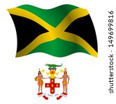 jamaica wavy flag and coat of...