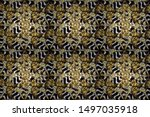 seamless abstract background.... | Shutterstock . vector #1497035918