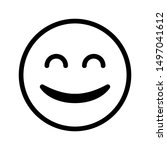 smile expression icon with 64...