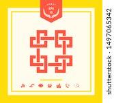 traditional geometric oriental... | Shutterstock .eps vector #1497065342