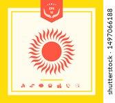 sun icon symbol. graphic... | Shutterstock .eps vector #1497066188