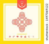 oriental arabic pattern. logo.... | Shutterstock .eps vector #1497069122