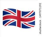 united kingdom flag logo.... | Shutterstock .eps vector #1497071192