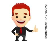 smiling guy giving thumbs up...   Shutterstock .eps vector #149709092