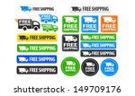 free shipping icons and buttons ... | Shutterstock .eps vector #149709176