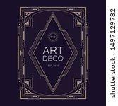 art deco retro badge logo... | Shutterstock .eps vector #1497129782