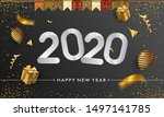 happy new year 2020   new year... | Shutterstock .eps vector #1497141785