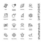 simple set of science related... | Shutterstock .eps vector #1497143405