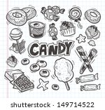 set of doodle candy icons | Shutterstock .eps vector #149714522