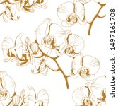 seamless pattern with a natural ...   Shutterstock .eps vector #1497161708