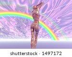 rainbow girl   Shutterstock . vector #1497172