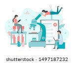 sampling blood tests  analysis... | Shutterstock .eps vector #1497187232