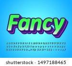 cool and fancy alphabet set... | Shutterstock .eps vector #1497188465