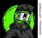 supermoto motocross icon logo...   Shutterstock .eps vector #1497190655