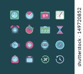 clock and time icon set | Shutterstock .eps vector #149720852