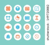 clock and time icon set | Shutterstock .eps vector #149720882