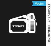 white ticket icon isolated on... | Shutterstock .eps vector #1497209015