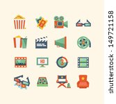 movie icon set | Shutterstock .eps vector #149721158