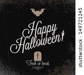 holiday   frame happy halloween   Shutterstock .eps vector #149721245