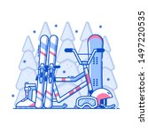 winter sports concept in line...