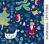 winter in the woods. santa... | Shutterstock .eps vector #149727362