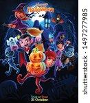 illustration of halloween night ... | Shutterstock .eps vector #1497277985
