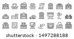 exhibition center icons set....   Shutterstock .eps vector #1497288188