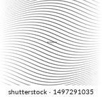 abstract warped diagonal... | Shutterstock .eps vector #1497291035