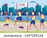 women taking part in running... | Shutterstock .eps vector #1497295118