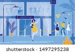 nightclub entrance. cartoon... | Shutterstock .eps vector #1497295238