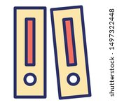 archives isolated vector icon... | Shutterstock .eps vector #1497322448