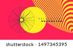 background with optical... | Shutterstock .eps vector #1497345395