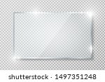 transparent glass banner with... | Shutterstock .eps vector #1497351248