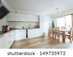 inside of a modern kitchen with ... | Shutterstock . vector #149735972