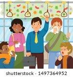 worried man standing in a... | Shutterstock .eps vector #1497364952