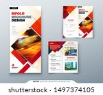bi fold brochure design with...   Shutterstock .eps vector #1497374105