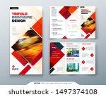 tri fold brochure design with... | Shutterstock .eps vector #1497374108