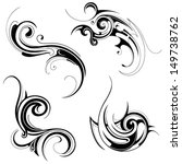 tribal art tattoo | Shutterstock .eps vector #149738762