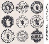 scotland travel stamp made in... | Shutterstock .eps vector #1497416942