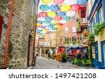 quebec city  quebec   canada  ... | Shutterstock . vector #1497421208