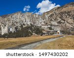 monastery in braka. himalayan... | Shutterstock . vector #1497430202