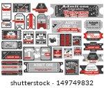 vector set  tickets in...   Shutterstock .eps vector #149749832