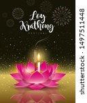 vector happy loy krathong... | Shutterstock .eps vector #1497511448