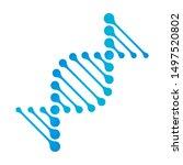 dna icon vector rna gene fun... | Shutterstock .eps vector #1497520802