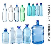 Set Of Water Bottles Isolated...